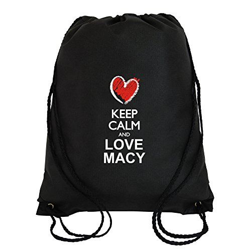 Idakoos - Keep calm and love Macy chalk style - Female Names - Sport - Macys Mens Bags