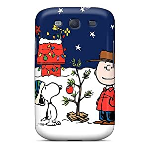 (dAz13157jbti)durable Protection Cases Covers For Galaxy S3(peanuts Charlie Brown Christmas)