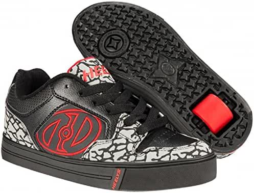 Heelys Men's Motion Plus Black Grey Red Shoes Sneakers