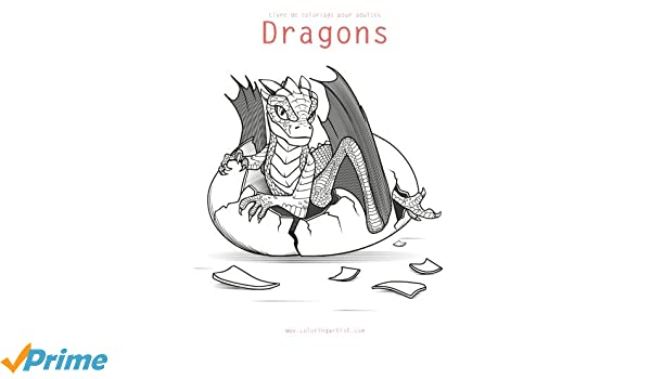 Amazon Com Livre De Coloriage Pour Adultes Dragons 3 Volume 3