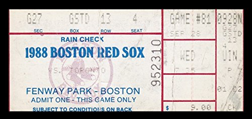 (1988 Red Sox v Toronto Blue Jays Ticket 9/28/88 Jimmy Key WP 2 Hitter 24935)