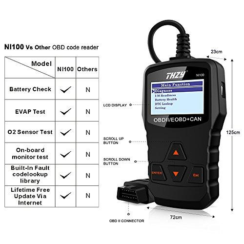 Thzy obd diagnostic scanner ni100 obd code reader diagnostic scan tool car fault code reader - Div checker tool ...