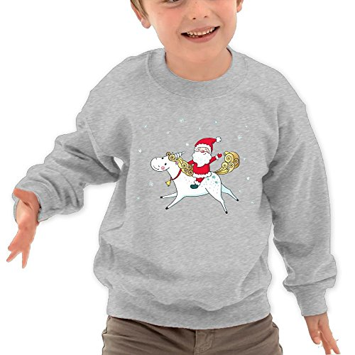 Personalized Mlb Mug (Puppylol Santa Riding Unicorn Kids Classic Crew-neck Pullover Hoodie Ash 5-6 Toddler)