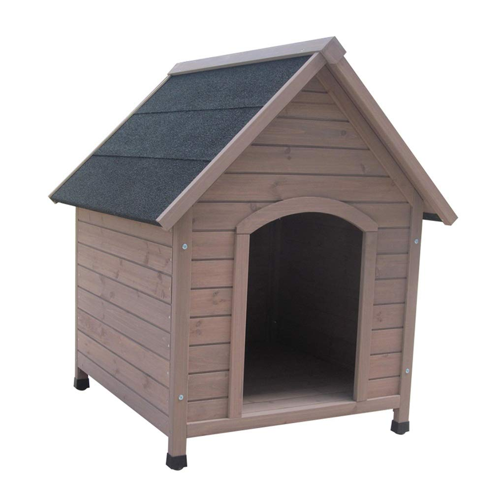 Brown 8783101cm Brown 8783101cm Kennel Dog Houses Outdoor Solid Wood Waterproof Dog Cage Removable And Washable Warm Indoor Small Medium Houses, Crates & Accessories (color   Brown, Size   87  83  101cm)