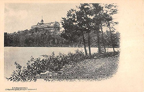 (Port Jervis New York Inn At High Point View From Coast Antique Postcard)