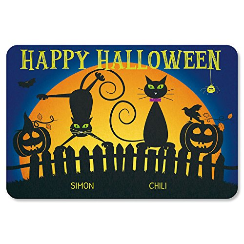 Lillian Vernon Cat Personalized Halloween Doormat - 2 Name, Custom 18