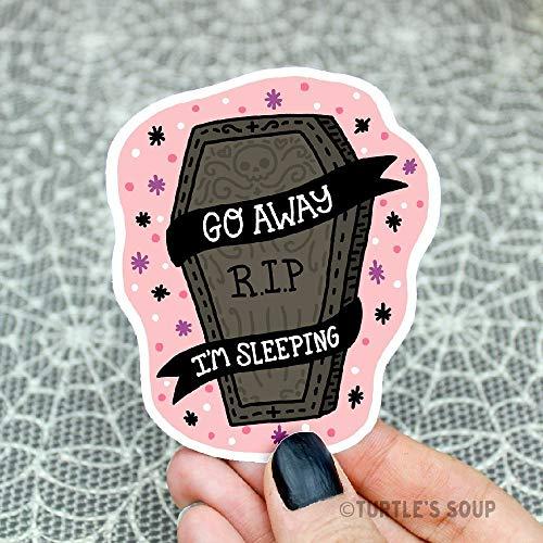Goth Sticker, Go Away, Coffin Sticker, Pastel Goth, Halloween, Emo Sticker, Water Bottle Decal, Gift For Her, Holiday, Cute, Bullet Journal]()
