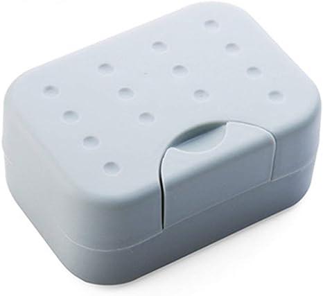 ngzhongtuhengtongjianzhugongchen Caja de jabón de Viaje Caja de jabón sellada Sello Impermeable de Viaje con Caja de jabón portátil con Caja de jabón de Esponja: Amazon.es: Deportes y aire libre