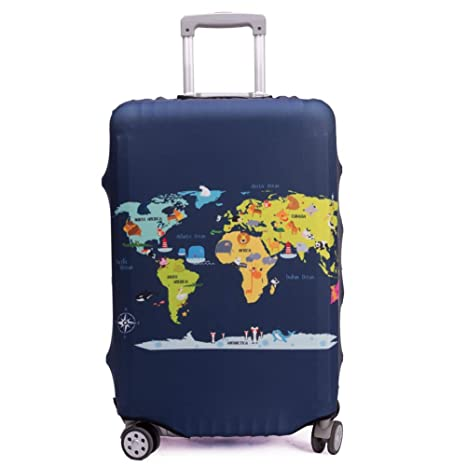3d09a5f6cf25 Madfifennina Washable Spandex Travel Luggage Protector Baggage Suitcase  Cover Fit 23-32 Inch (L(26