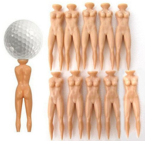Angel 10個/ロットプラスチックノベルティジョークNaked Nude Ladyゴルフティー練習トレーニングGolf Teesバルク70 mm 2 3 4 5 6 7   B07FMJ87F2