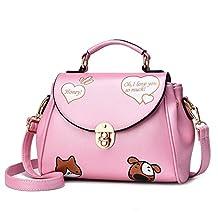 FTSUCQ Cute Fox Handbag Crossbody Clutch Purse Shoulder Bag Cartoon Satchel