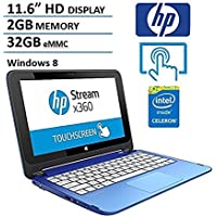 2018 HP Stream X360 11.6 HD Touchscreen Convertible 2 in 1 Laptop Computer, Intel Dual Core Celeron N2840 up to 2.58 Ghz CPU, 2GB Memory, 32GB Emmc, USB 3.0, HDMI, Windows 8(Certified Refurisbhed)