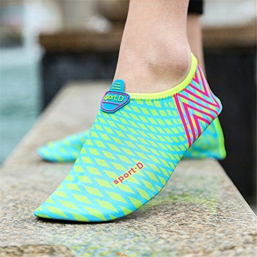 SAGUARO Unisex Wasserschuhe Badeschuhe Strandschuhe Aqua Shoes Blau