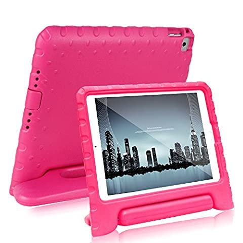 Bolete Case for iPad Air 2 - Kids Shock Proof Convertible Handle Light Weight Super Protective Stand Cover Case for Apple iPad Air 2 / iPad 6 (6th - Apple Coral Handle