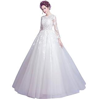 970de322d375e ウェディングドレス ロング プリンセスライン 編み上げ 甘美 可愛い 結婚式 披露宴 ふんわり