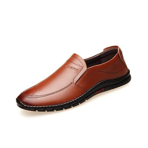 2018 Zapatos Casuales para Hombres, Trabajo Formal, cómodos Mocasines, Zapatos Planos, Zapatos