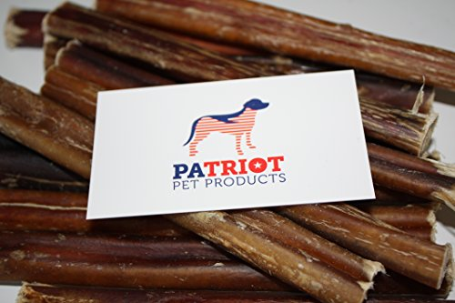 Patriot Pet 6-Inch Bully Sticks for Dog - 12 Pack