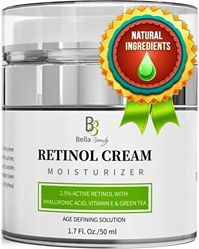 Retinol Moisturizer Anti Aging Cream for Face and Eye Area - With Hyaluronic Acid - 2.5% Active Retinol - Vitamin E - Reduce Appearance of Wrinkles and Fine lines - Best Day and Night Face Cream (Men Age Defying Cream)