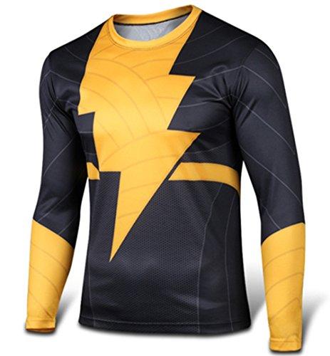 Carin Men's Shazam The Flash Black Adam Long Sleeve T-shirt