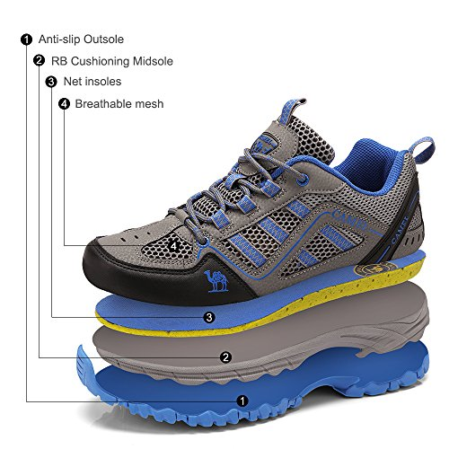 Walking Causal Viaje Zapatos Running Uso Respirables Unisex Zapatillas Azul Shoe Entrenadores para Diario de Junior Gimnasio Senderismo Escalada Senderismo YrwIOqSw