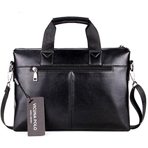 2490d6592aa9 VICUNA POLO Man Briefcase Bag Messenger Bag Laptop Bag Man Bag Shoulder Bag (black)