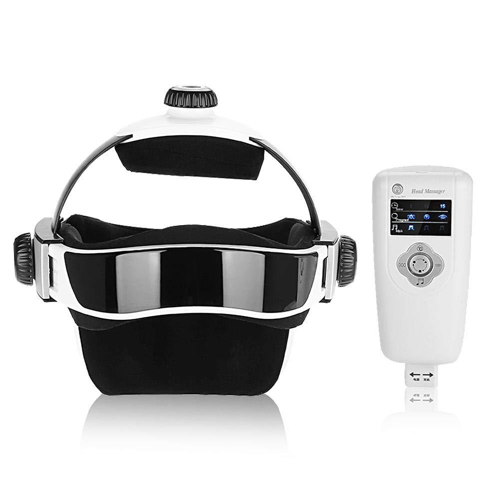 Electric Heating Head Massager Air Pressure Vibration Helmet for Brain Relax Massager Health Care Music Massage Hat