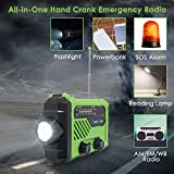 Emergency Radio, Solar Crank NOAA Weather Radio