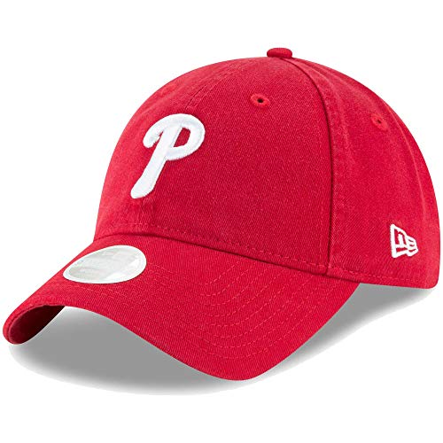 (New Era Philadelphia Phillies Women's Core Classic Twill Team Color 9TWENTY Adjustable Hat)