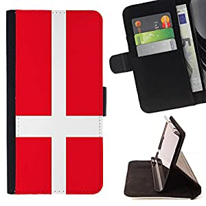 - Flag - - Premium PU Leather Wallet Case with Card Slots, Cash Compartment and Detachable Wrist Strap FOR Samsung Galaxy S6 G9200 King case