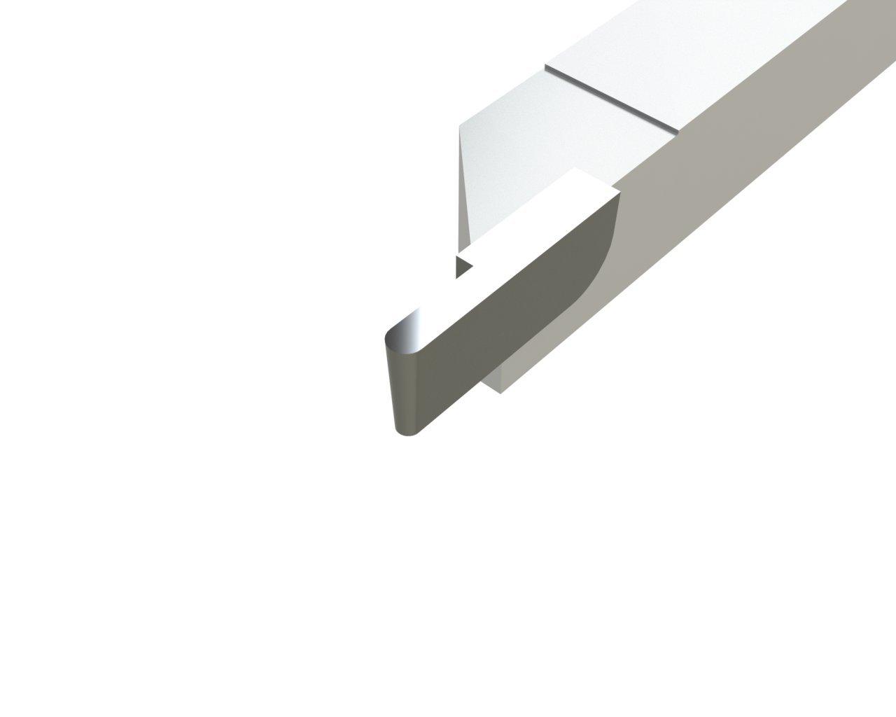 Micro 100 GS-012F Brazed Groove Tool Square Shank DiameterStyle GS 3 Length 3//8 Width 3//8 Height 0.012//0.014 Width Full Radius 0.030 Length
