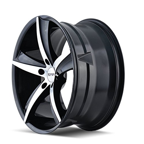 TR72 (3272) GLOSS BLACK/MACHINED FACE 18X8 5-120 35mm 74.1mm