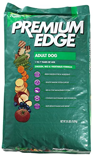 Premium Edge Dry Food for Adult Dog, Chicken, Rice and Vegetables, 35-Pound Bag