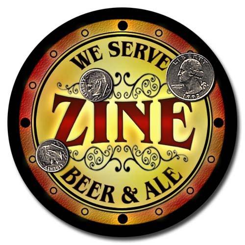 - Zine Family Golden Beer & Ale Rubber Drink Coasters