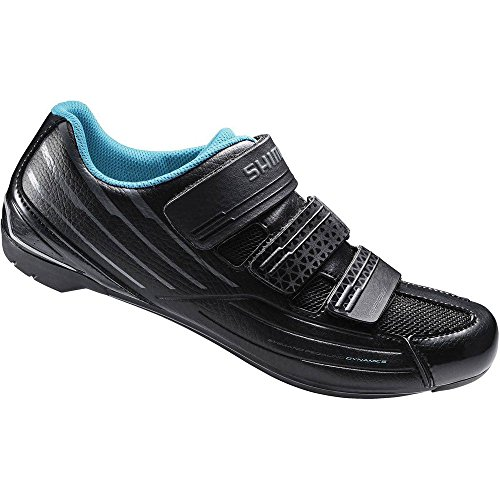 Shimano SH-RP2 Women's Touring Road Cycling Synthetic Leather Shoes, Black, 41