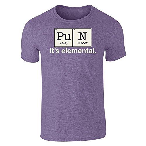 (Pun It's Elemental - Elements Funny Heather Purple 3XL Short Sleeve T-Shirt)
