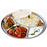Round 4 Compartment Thali,Stainless Steel 4 Compartment Round Thali,Steel 4 Compartment Round Plate,Round Thali,Dinner…