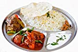 Round 4 Compartment Thali,Stainless Steel 4 Compartment Round Thali,Steel 4 Compartment Round Plate,Round Thali,Dinner Plate,Indian thali,Dinnerware Thali,Thali,Mess Tray