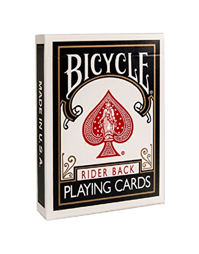 Bicycle Standard Rider Back Standard Playing Cards, Black