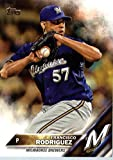 2016 Topps #18 Francisco Rodriguez Milwaukee Brewers Baseball Card in Protective Screwdown Display Case