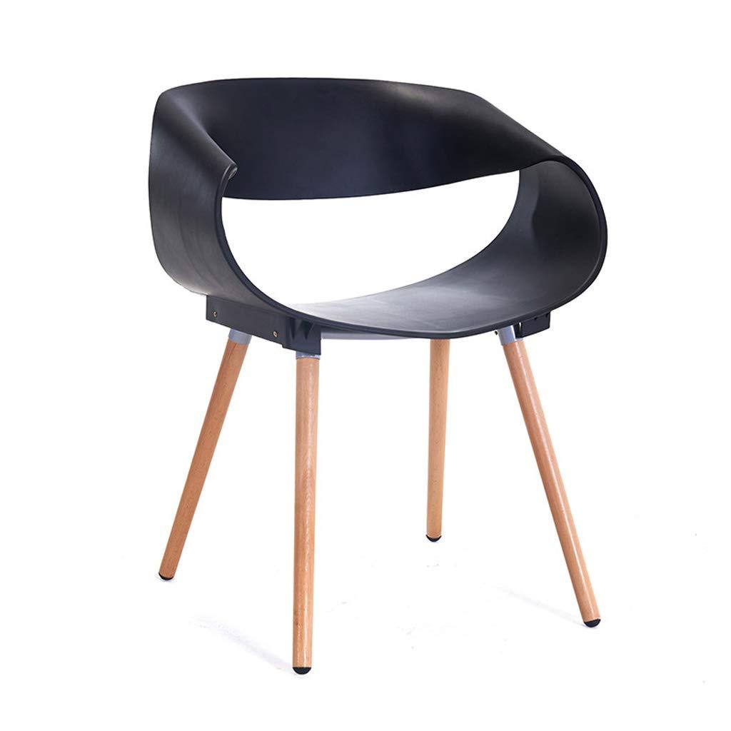 Black GLJ Home Chair Plastic Backrest Computer Chair Modern Chair Leisure Chair Multi-color Optional 76x46x49cm Bar Stool (color   Yellow)