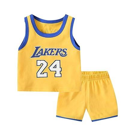 FEIF Niños Camiseta de Baloncesto Lakers No. 24Uniforme De ...