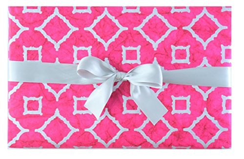 Gift Wrap 2 Rolls - BEST LUXURY GIFT WRAP ROLLS: MOROCCAN PINK PREMIUM (SET OF 2 ROLLS)