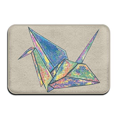Inside & Outside Entrance Custom Doormat Color Origami Crane Design Pattern For Patio Or Entryway