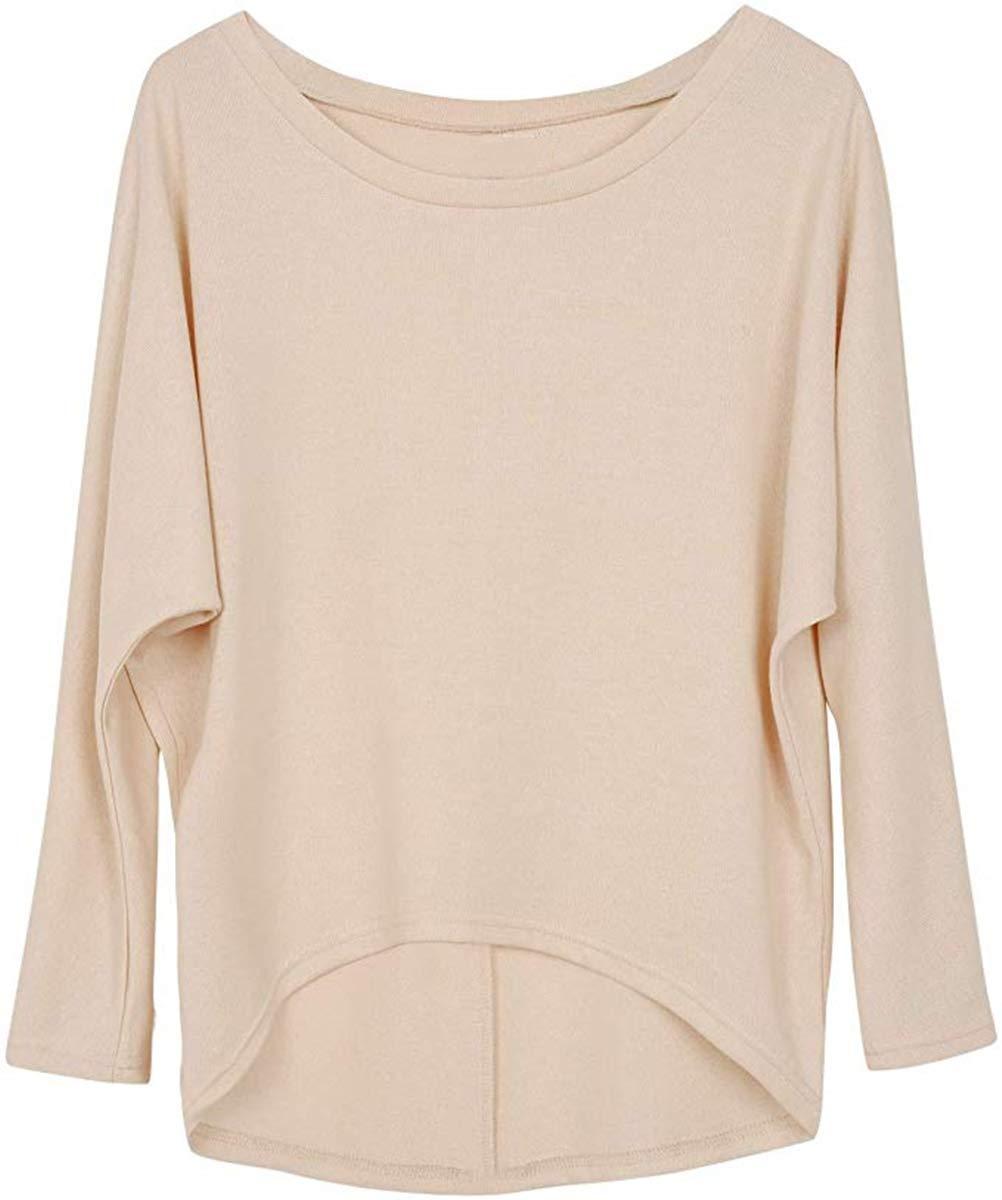 Cindeyar Pullover Damen Asymmetrisch Sweatshirt Oversize Oberteile Lose Tunika Bluse T-Shirt Tops Pulli