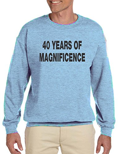 40 Years Of Magnificence Adult Sweatshirt Light Blue Large