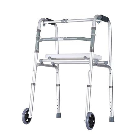Bbhhyy Ayudas para discapacitados Marco Zimmer, Andador Plegable ...