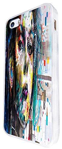 1076 - Cool Fun Illustration Rave Girl Dance Music Colourful Pin Up Fashion Design iphone SE - 2016 Coque Fashion Trend Case Coque Protection Cover plastique et métal - Blanc