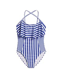 Arshiner Girls One Piece Swimwear Ruffle Swimsuit