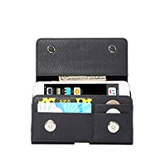 eBuymore PU Leather Horizontal Case Executive Holster Belt Clip Pouch for Samsung Galaxy S7 Edge / S6 Edge+ Plus / Galaxy J7 / Galaxy On7 / Note 5 / iPhone 6S Plus / iPhone 7 Plus (Black)