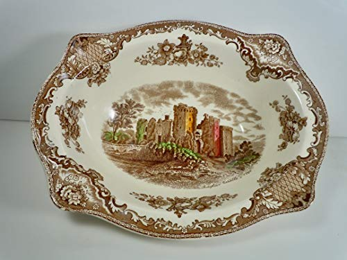 - Johnson Brothers Old Britain Castles Brown Multi Color Oval Vegetable Bowl 9